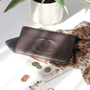 Chanel Brown Caviar Wallet